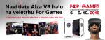 Alza přináší na For Games halu plnou virtuální reality
