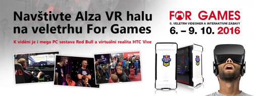 fb0d7213e Alza přináší na For Games halu plnou virtuální reality FOR GAMES
