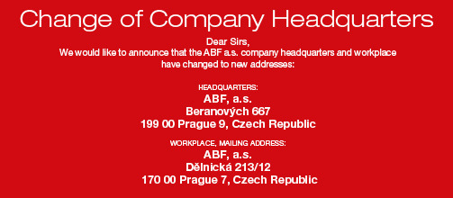 CHANGE OF COMPANY HEADQUARTER