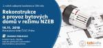Pozvánka na 2. ročník odborné konference Rekonstrukce a provoz bytových domů v režimu NZEB – 14.11.2018, Praha