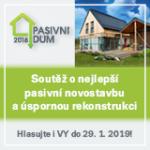 Hlasujte o nejlepší zelenou novostavbu a rekonstrukci v soutěži PASIVNÍ DŮM 2018!