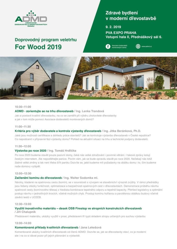 Pod záštitou Asociace dodavatelů montovaných domů zazní v sobotu 9. února zajímavý doprovodný program